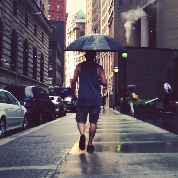 man walking in bronx nyc